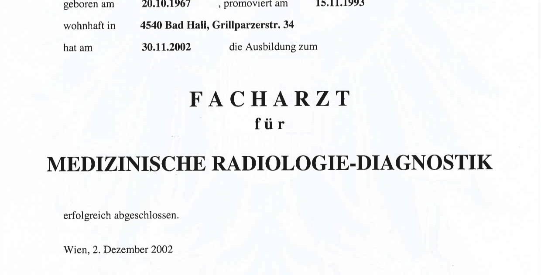 Dr. F. Mitterhauser - Facharzt in Steyr
