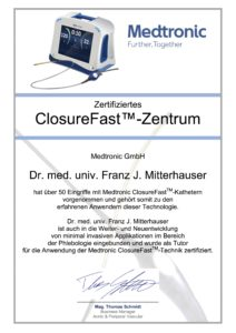 ClosureFast Zertifikat