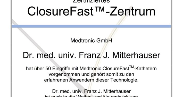 ClosureFast Zertifikat
